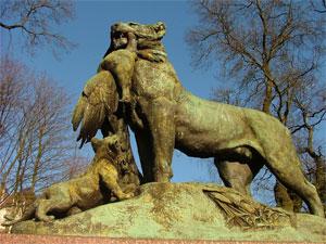 The Friends Of Kelvingrove Park Tigress Statue
