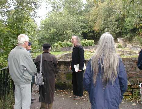 Michael Donnelly at the former Flint Mill site